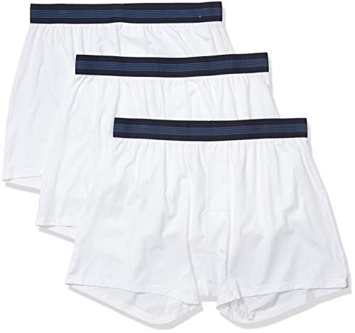 Goodthreads 3-Pack Lightweight Performance Knit Boxer-Shorts, Grellweiß, S