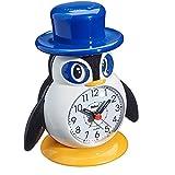 Mebus Kinderwecker / Mit Wecker und Alarm / Mit Beleuchtung und Quarzuhrwerk / Motiv: Pinguin / Modell: 26514