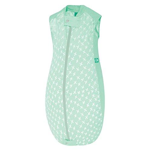 ergoPouch Schlafsack Baby Jersey, 100% Bio Baumwolle - TOG 1.0, Grün, 2-12 Monate (80cm)