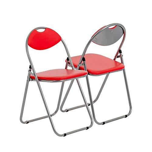 Klappstuhl - gepolstert - Rot - 4 Stück