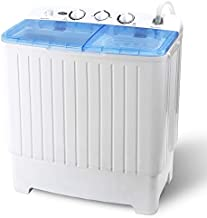 ZENY Portable Washing Machine Compact Twin Tub Laundry Washing Machine 17.6lbs Capacity Mini Washer Spinner for Apartment RV Travelling,Semi-Automatic