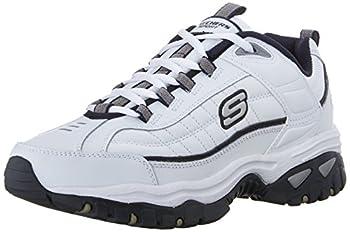 Skechers mens Energy Afterburn road running shoes White/Navy,12 medium