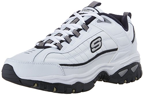 Skechers Sport Men's Energy Afterburn Lace-Up Sneaker,White/Navy,14 M US