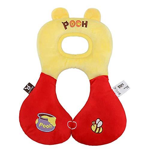 ZSJZSJ Support De TêTe en Forme De U SièGe De Voiture pour BéBé Et Appuie-TêTe pour Oreiller De Poussette,Winnie-The-Pooh