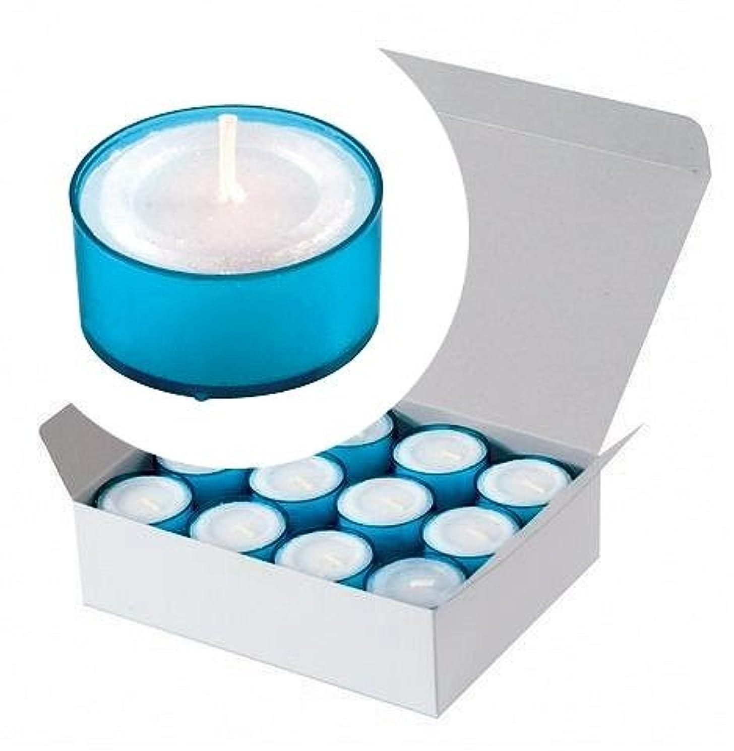 設計写真祝うカメヤマキャンドル(kameyama candle) カラークリアカップティーライト24個入り 「 ブルー 」