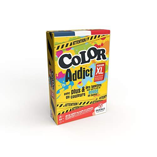 Color Addict XL - jeu de cartes ambiance et rapidité - avec lunettes rouges - Jeux de société famille, amis, enfant