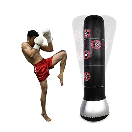 Dioche Saco Boxeo, Inflable Estrés Punch Torre Velocidad Bolsa Gimnasio Torre de...