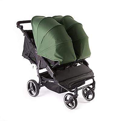Baby Monsters Easy Twin 3S Light Carrito gemelar + Capota (Forest) - Silla de paseo gemelar ultraligera de fácil plegado