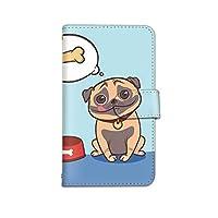 [bodenbaum] isai VL LGV31 手帳型 スマホケース カード スマホ ケース カバー ケータイ 携帯 LG エルジー イサイ ブイエル au お腹の空いた犬 いぬ d-218 (B.ブルー)