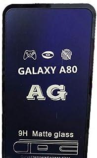 شاشة حماية زجاجية ايه جي مضادة لبصمات الاصابع والاشعة فوق البنفسجية 9 اتش لهواتف سامسونج جالاكسي ايه 80