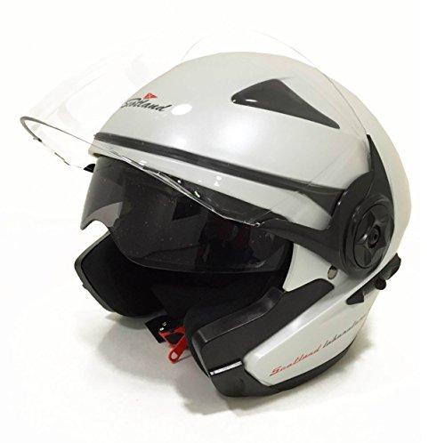ScotlandMotorrad-Helm/Scooter Force 03.2mit Doppel-Visiere, Glänzend Weiß, Größe 61-62 (XL)