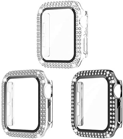 Recoppa 3 Pack Compatible for Apple Watch Case 38mm with Screen Protector Bling Cover Double product image