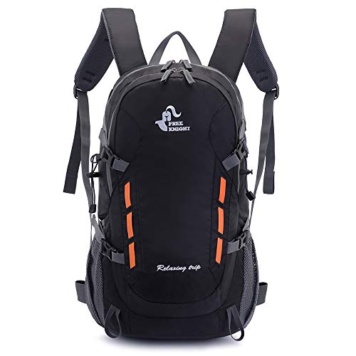 40L Lightweight Daypack Cycling Hiking Water Resistant Travel Backpack (Black)