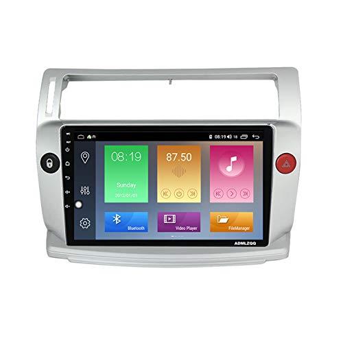 ADMLZQQ Android 10.0 9 Pulgadas Navegacion GPS Radio Multimedia para Citroen C4 2004-2009, Bluetooth/FM/RDS/DSP/Controles del Volante/Cámara De Visión Trasera / 4G+WiFi,7862 (8core 6+128g)