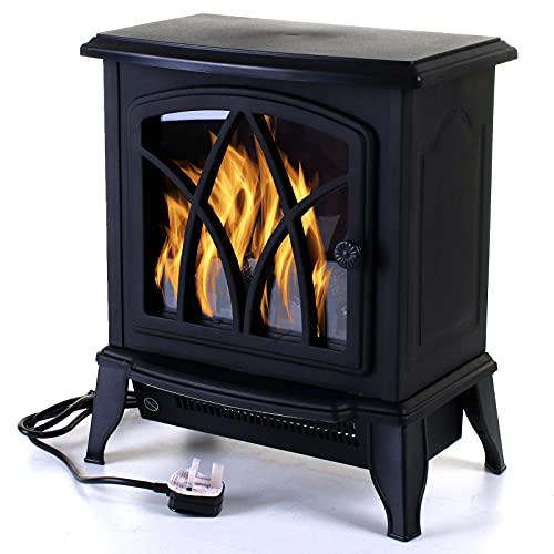 Marko Heating Lexham Electric Fireplace 2KW Fire Wood Flame Heater Stove Living Room Log Burner 2000W