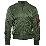 ALPHA INDUSTRIES Flight Jacket MA-1 VF 59 Chaqueta Bomber, Verde (Dark Green 257), S para Hombre