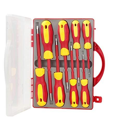 DDMYF 8 En 1 Set De Destornillador Aislado De Precisión VDE Ranurado Tuercas De Tornillo Magnético bits Multifunción Herramienta Reparación De Herramientas Manual Kit De Herramientas