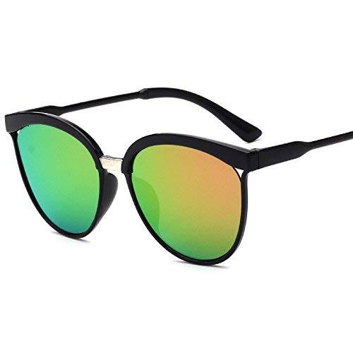 JKKJ Gafas de sol cuadradas vintage con marco de espejo, estilo deportivo, protección UV400 con funda para gafas de sol para conducir deportes al aire libre, viajes, regalo para hombres y mujeres (H)