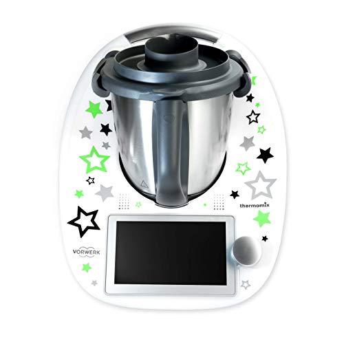 coolina® Sticker Aufkleber Sternentanz Grün passend für Thermomix TM6/ TM5/ TM31/ Cook-Key