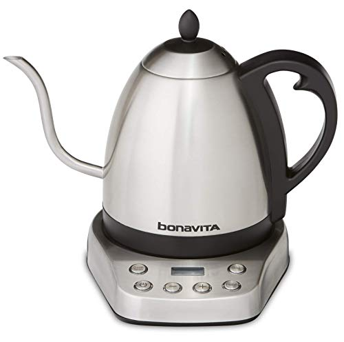 Bonavita BV07002US Interurban 1L Variable Temperature Brushed Stainless Steel Electric Kettle
