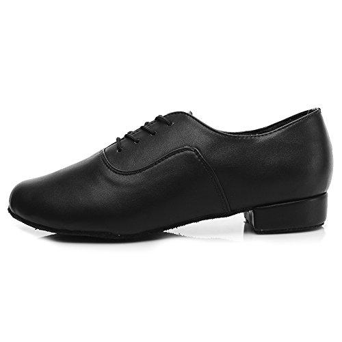 HROYL Zapatos de Baile de latín/Jazz estándar de los Hombres de Cuero Lace up Zapatos de Baile de los Hombres de salón de Baile 704 EU43
