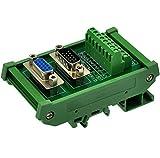 CZH-LABS DIN Rail Mount DSUB DB15HD Male/Female Header Interface Module, D-SUB Breakout Board.