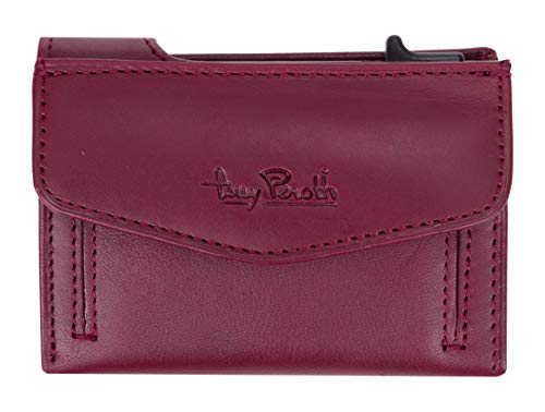 Leder Geldbörse Toni Perotti RFID Kreditkartenbörse Wallet Geldbeutel Furbo + Etui (Burgundy (TE/CC/3700BD))