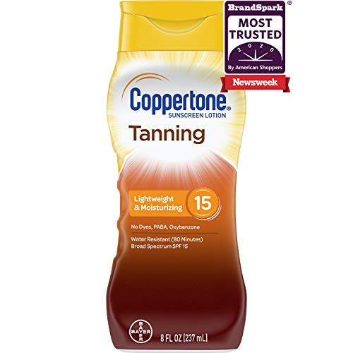 Coppertone Tanning Lotion Sunscreen SPF 15, 8oz by Coppertone