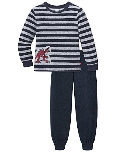 Schiesser Jungen NICI Kn lang Zweiteiliger Schlafanzug, Grau (anthrazit 203), 92 (Herstellergröße: 092)