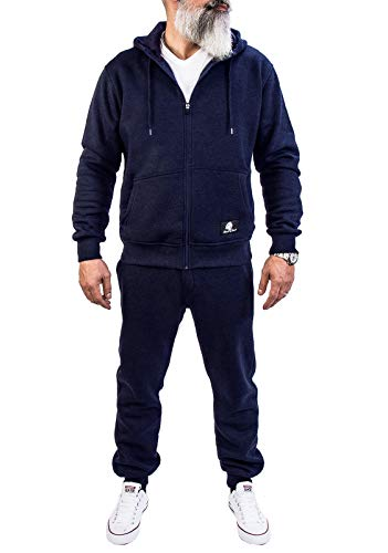 Rock Creek Herren Jogging Anzug Trainingsanzug Sportanzug Jogger Fitnessanzug Sweatshirt Trainingshose Trainingsjacke H-166 Navy XXXXL