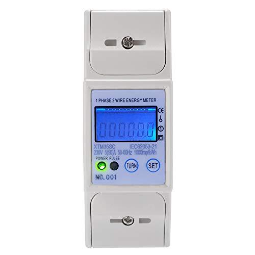 XTM35SC Digitaler LCD DIN-Schienengenau Wattmeter Energiezähler/Drehstromzähler/Stromzähler 5(50) A Mit RS485-MODBUS für DIN Hutschiene