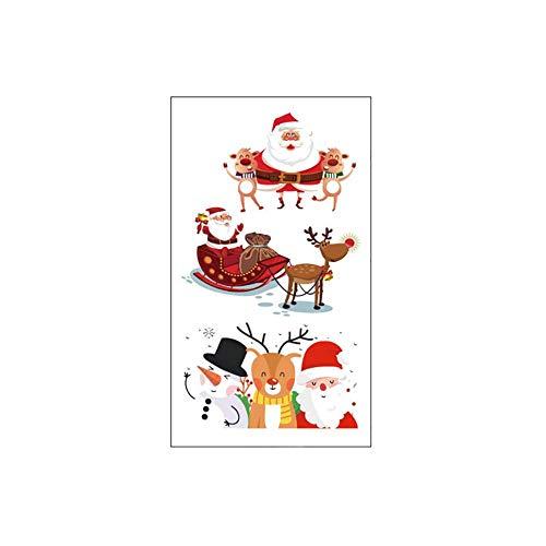 Da.Wa 10 × Weihnachten Tattoo Aufkleber Nagel Sticker Selbstklebend Aufkleber Maniküre Deko Phone Case Dekoration 10,5 * 6 cm