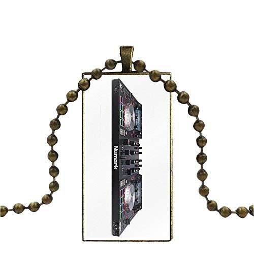 Glas Anhänger Halskette Handgemachte Halbe Anhänger Rechteck Halskette Für Frauen Numark Ns6 Radio