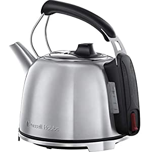 Russell Hobbs K65 Anniversary Electric Kettle – Retro Cordless Energy Saving Kettle with Rapid Boil, 1.2 Litre, 3000 W, Stainless Steel