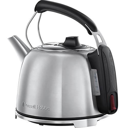 Russell Hobbs K65 Anniversary Electric Kettle - Retro Cordless Energy Saving Kettle with Rapid Boil, 1.2 Litre, 3000 W, Stainless Steel