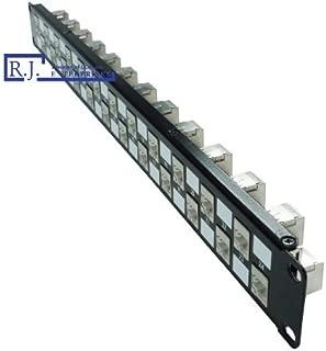 R.J. Enterprises SDPP-24-C5ES-No Punch Down-Cat5E Patch Panel (Special Design) 568A/B (Tool-Less, Feed Through) 24 Port,(Shielded) 1U-Data Center- Telecom Room