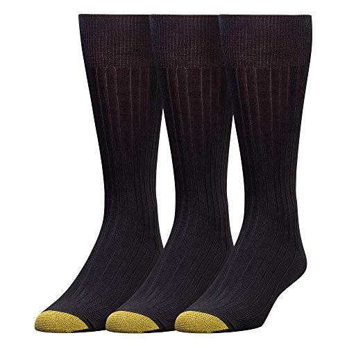 Gold Toe Men's Milan Comfort Top Socks, 3-Pack