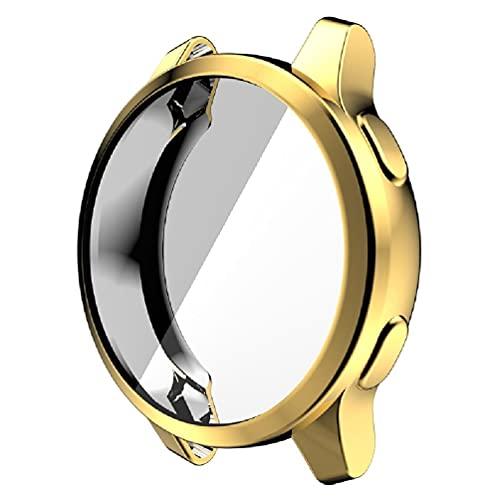 EATAN Funda compatible con Garmin Vivoactive 4 de 45 mm con protector de pantalla ultra fino de TPU chapado a prueba de golpes Shell smartwatch accesorios para un reloj de cara redonda