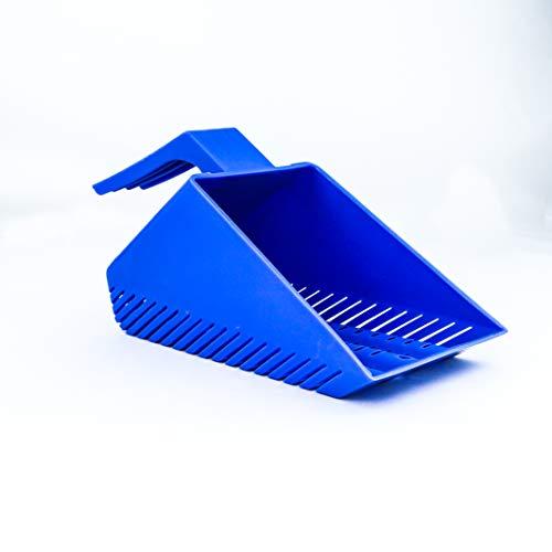 Aqua KT Aquarium Gravel Sand Shovel Scoop Cleaner Blue for Fish Tank Cleaning Tool