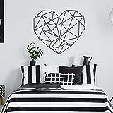 HGFDHG Calcomanías de Pared de Amor geométricas Dormitorio Sala de Estar Oficina Estilo Minimalista decoración de Interiores Pegatinas de Pared de Vinilo