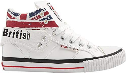 British Knights Unisex-Erwachsene ROCO Hohe Sneaker, Weiß White Union Jack 1, 40 EU