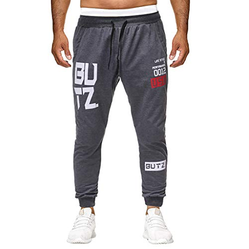 SANFASHION Pantalon Homme, Pantalon Casual Pantalons Jogging Pantalons Grande Taille Sport Pantalons Taille Elastique Pans Grande Taille Pantalons Slim