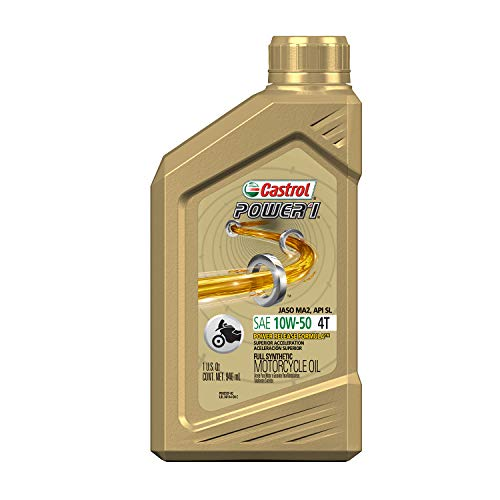 Castrol 06412 Power RS 10W-50 4-Stroke Motorcycle Oil - 1 Quart, (Pack of 6)