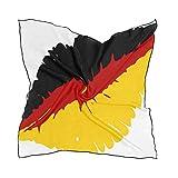 MALPLENA Malpela Schal mit deutscher Flagge für Damen, groß, quadratisch, warm, weich