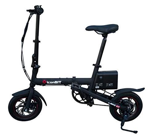 """Iconbit Unisex Jugend E-Bike K7 faltbar schwarz mit 12"""" Alu-Rädern, Größe (zusammen geklappt): 730 x 410 x 640 mm"""
