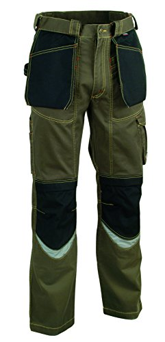 COFRA 01503 Arbeitshose Modell Bricklayer, Kollektion Workwear, Schlamm/schwarz/Stone wash (50)
