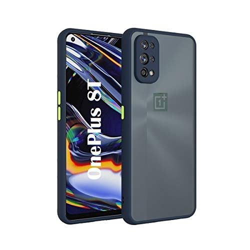 Coverskart Back Cover for One Plus 8T / OnePlus 8T Smoke Translucent Shock Proof Smooth Rubberized Matte Hard Back Case Cover with Camera Protection (One Plus 8T, Blue)