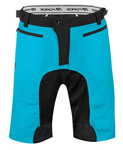 Force MTB-11 Short, Kurze Fahrradhose super Passform (blau, XS)