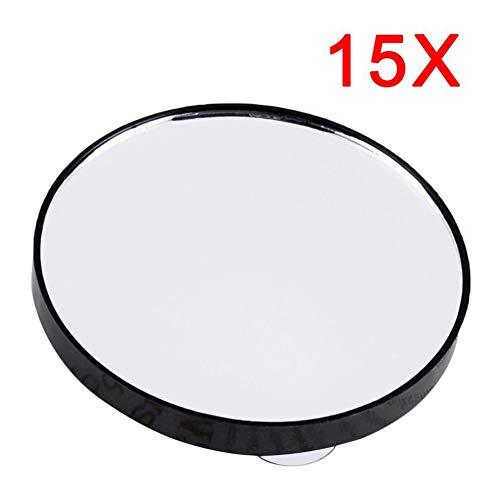 N/V Kosmetikspiegel mit 5-facher Vergrößerung, 10-facher Vergrößerung, mit zwei Saugnäpfen, Kosmetik-Werkzeug, runder Mini-Spiegel für Badezimmer