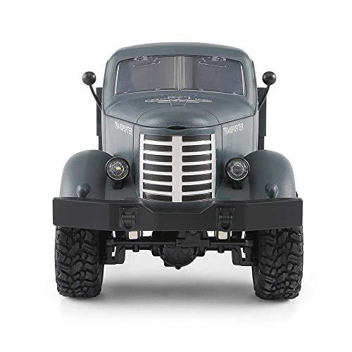 WGFGXQ Cars Control Remoto Coche Juguetes 1:16 2.4g Control Remoto 4WD Seguimiento Todoterreno Camión Militar Coche RTR Simulación Eléctrico Exterior RC Coche Todoterreno (Color: Navy)